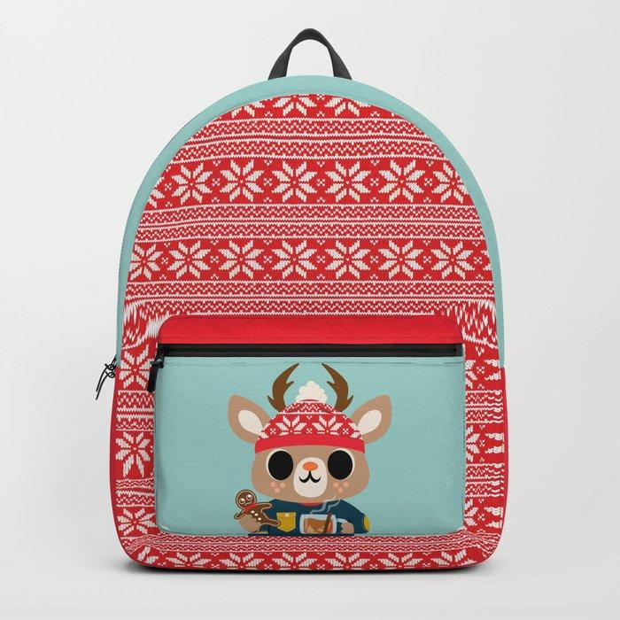 Deer in a Sweater Rucksack
