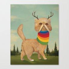 Reversed Nyan Cat.  Canvas Print