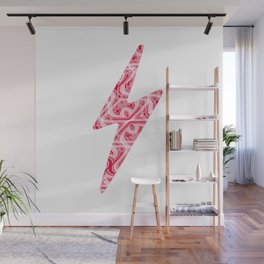 Glitchy Peppermint Holiday Pattern Wall Mural