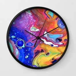 Wild and Crazy Art Flow Wall Clock