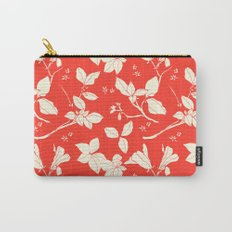 Drawings from Stonecrop Garden, Pattern in Red Carry-All Pouch
