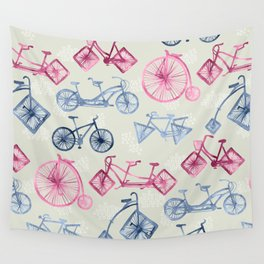 Crazy Bikes Wall Tapestry