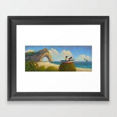 At the sea Framed Art Print