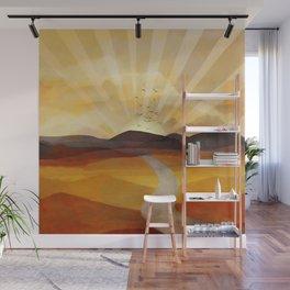 Desert in the Golden Sun Glow II Wall Mural