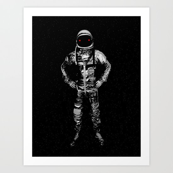 I'll take you to the moon and leave you there Art Print