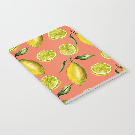 Lemons pattern Notebook
