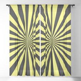 Starburst (Black & Yellow Pattern) Sheer Curtain