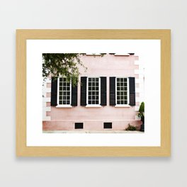 Pink Windows Framed Art Print