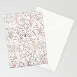Art Deco Marble & Copper Stationery Cards