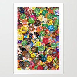 KCup Collage Art Print