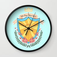 kendrawcandraw Wall Clocks featuring Tyler Posey Defense Squad by kendrawcandraw