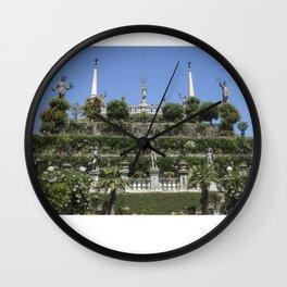Gardens of Borromeo Palace on Isola Bella, Stresa,Italy. Wall Clock