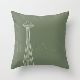 Seattle by Friztin Throw Pillow