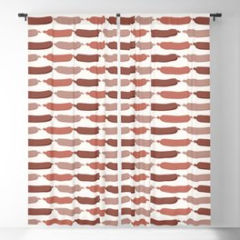 Cute vector sausages cartoon. Seamless repeat pattern illustration Blackout Curtain