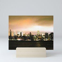 Empire State at Night, C Mini Art Print