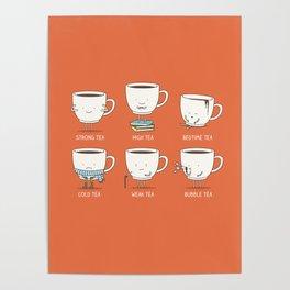 Types of tea Poster