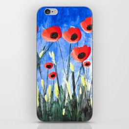 Ditzy Poppies iPhone Skin