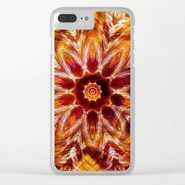 Autumn Colors Kaleidoscope Mandala Fashion Design Clear iPhone Case