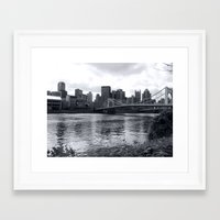 pittsburgh Framed Art Prints featuring Pittsburgh by Joyce E. Wasser