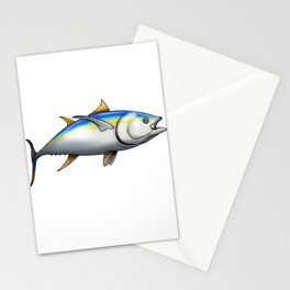 Lucky Yellow-fin Fishing Shirt Stationery Cards