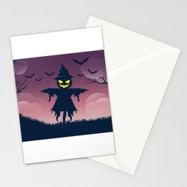 Scarecrow - Happy Halloween Stationery Cards