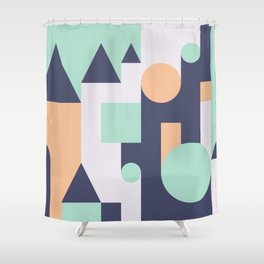 Abstract Pattern Background Shower Curtain
