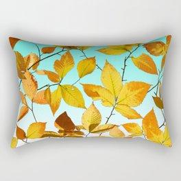 Autumn Leaves Azure Sky Rectangular Pillow