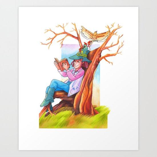 The beginning of an adventure Art Print