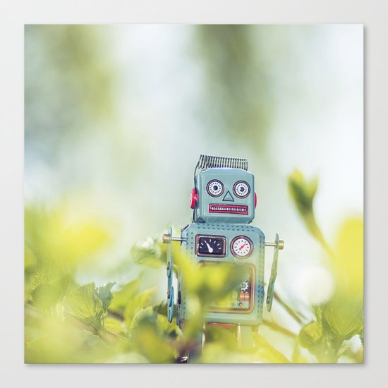 Robot in Nature Canvas Print