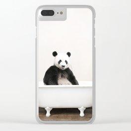 Panda Bath (c) Clear iPhone Case