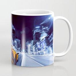 Supercar City night speed Coffee Mug