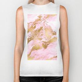 Rose Gold Mermaid Marble Biker Tank