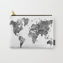 World map in watercolor gray Carry-All Pouch