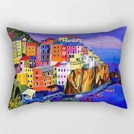 Manarola Cinque Terre Rectangular Pillow