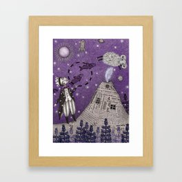When the Little Prince came to Iceland Framed Art Print
