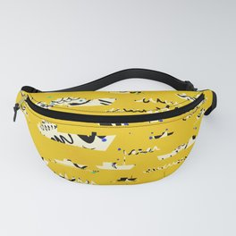 Tall ships in yellow Fanny Pack