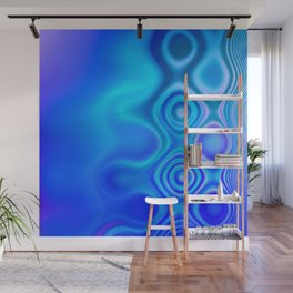 Dots in Motion (watery blues) Wall Mural