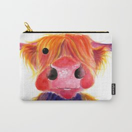 Scottish Highland Cow ' HeRbiE ' by Shirley MacArthur Carry-All Pouch