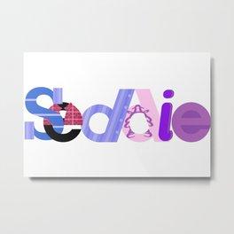 Seddie logo - borderless sticker Metal Print