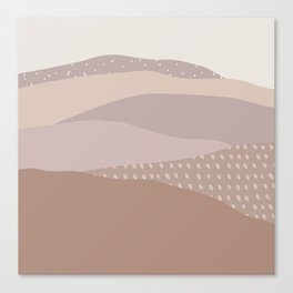 Muted Dusty Abstract Mountain Landscape Canvas Print
