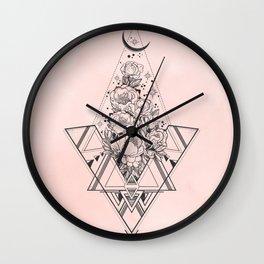 Roses in Moonlight Pink Wall Clock