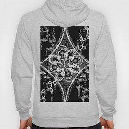 black nad white pattern Hoody