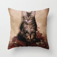 lucas david Throw Pillows featuring Lucas by SOPHIA FREITAS