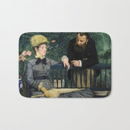 Edouard Manet - In the Conservatory Bath Mat