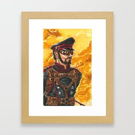 Captain Grimm Framed Art Print