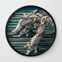 android Wall Clocks featuring android anteater by Kingu Omega