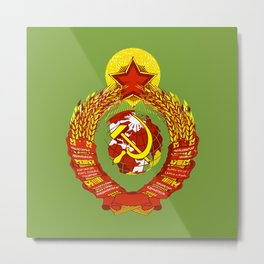 STATE OF THE EMBLEM OF THE  SOVIET UNION  Metal Print
