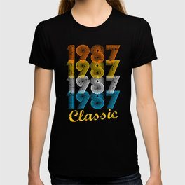 30th Birthday Gift Vintage 1987 T-Shirt for Men & Women T-Shirts and Hoodies T-shirt