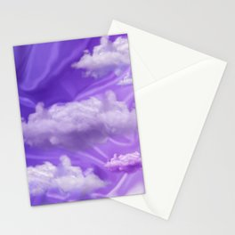 """Violet pastel sweet heaven and clouds"" Stationery Cards"