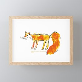 Fox illustration, fox drawing, fox design, fox painting Framed Mini Art Print